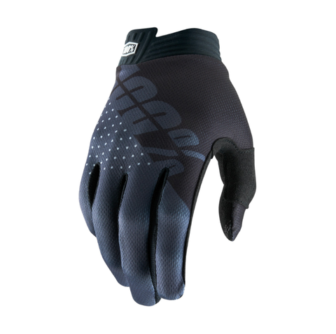 100% iTrack Gloves - Black / Charcoal