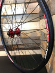 "(Slam69built) Halo Chaos 26"" / Halo MT Front Hub Front Wheel (Black/Red)"