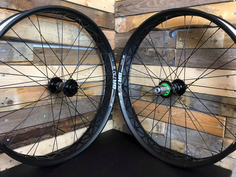 (Slam69Built) DT BR710 /  Hope Pro 4 - Fatbike Custom Built Wheelset (Black Hubs)
