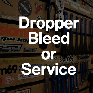 WORKSHOP BOOKING - Labour - Bleed Dropper / Seat post Service : from £25