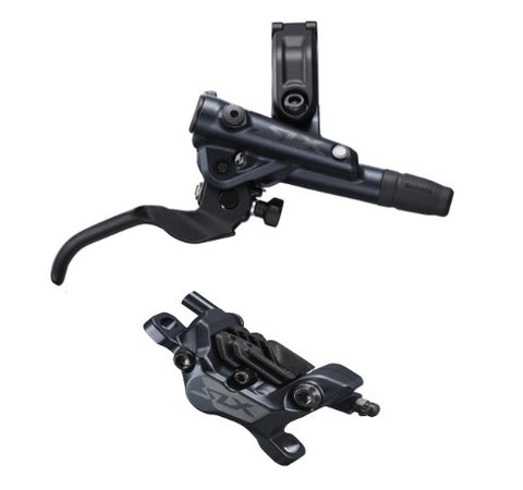 Shimano BR-M7120/BL-M7100 SLX 4 pot bled brake lever/post mount calliper, front right
