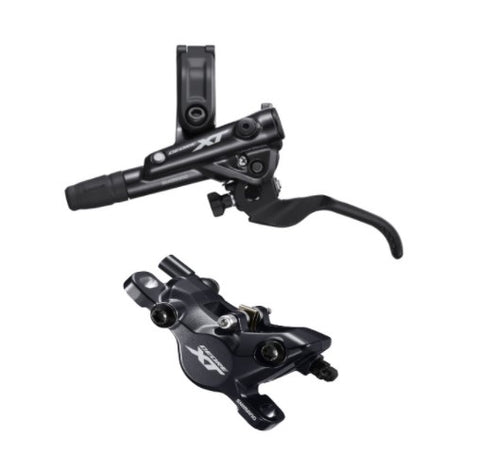 Shimano BR-M8100/BL-M8100 XT bled brake lever/post mount calliper