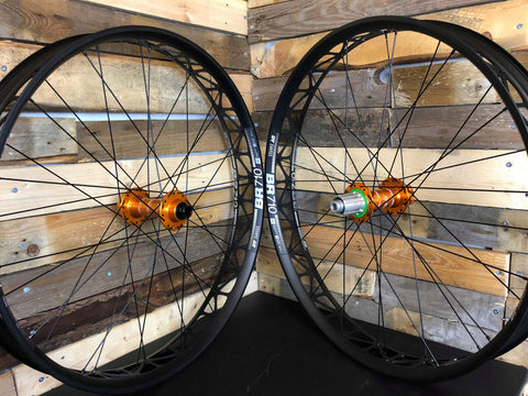 (Slam69Built) DT BR710 /  Hope Pro 4 - Fatbike Custom Built Wheelset (Orange Hubs)