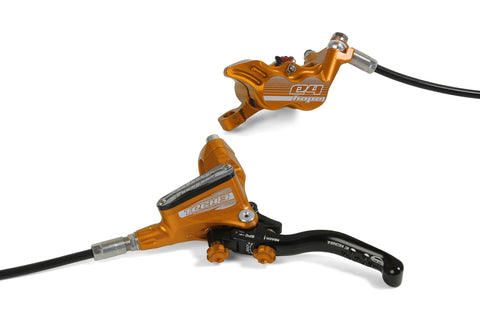 Hope Tech 3 E4 Brake - No Rotor - Orange