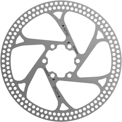 Aztec Stainless steel fixed disc rotor with circular cut outs 160mm/180mm