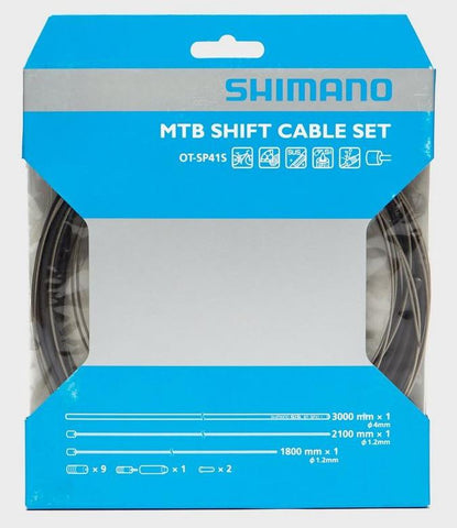 Shimano MTB Shift Cable Set, with stainless steel inner wire, black