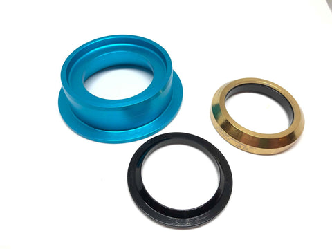 Dartmoor Bottom Headset Part - Lower Cup - ZS49/30 (Turquoise)