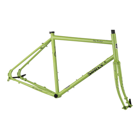 Surly Disc Trucker Frameset - Pea Lime Soup