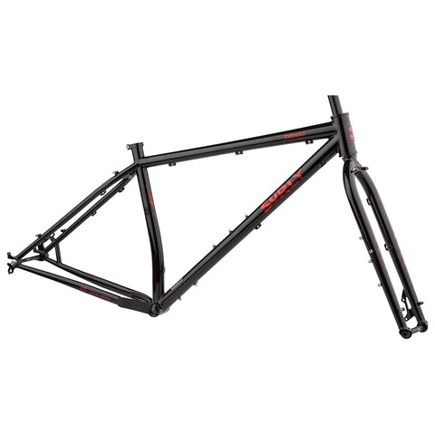 Surly Krampus Frameset - Black/Red Sparkle