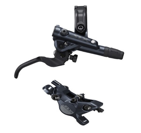 Shimano BR-M7100/BL-M7100 SLX bled brake lever/post mount calliper, front right