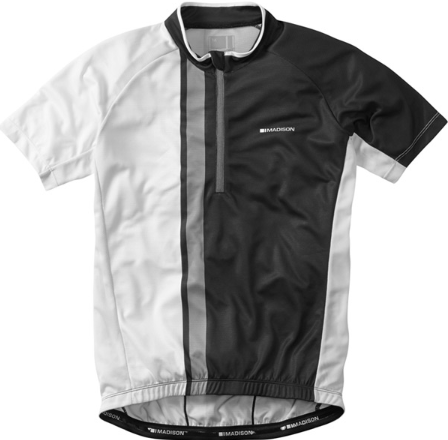 Madison Tour men's short sleeve jersey, black / white