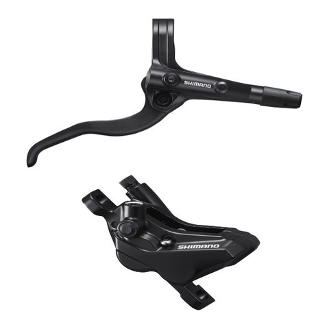 Shimano BR-MT420 / BL-MT401 bled brake lever/post mount calliper, black