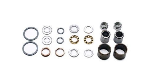 HT Pedal Rebuild Kit, X-2 Pedals - Includes DU Bushes, End nuts, Bearings, Rubber seals (Also fits AE-06, AE-12)