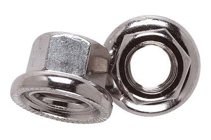 Quality Flanged Wheel Nut with Revolving Washer (EACH)