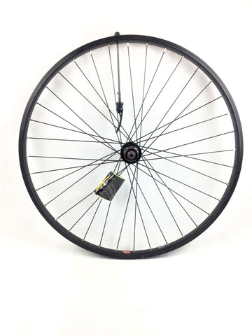 Raleigh - 26 x 1.75 Rear Wheel, Black, 8/9speed cassette (QR)
