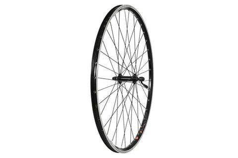 Raleigh 700C Front Wheel - Alloy Hub, Mach1 240 Rim, 36H, black (QR)