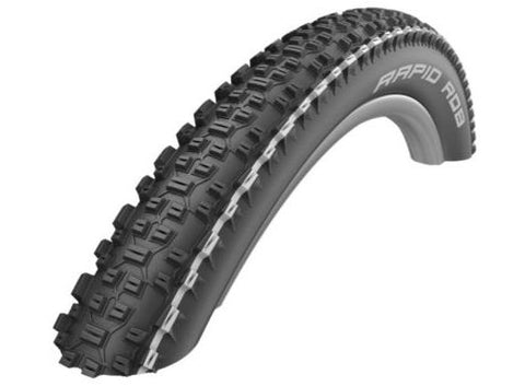 SCHWALBE 29 X 2.25 RAPID ROB WIRED AL TYRE – BK/WH