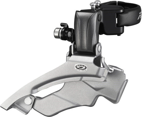 Shimano FD-M371 Altus 9-speed front derailleur, conventional swing, dual-pull