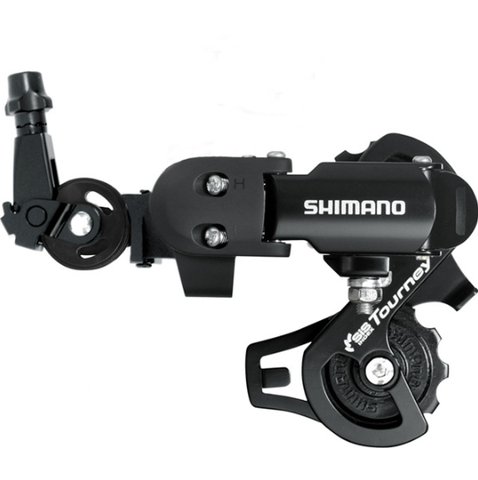 Shimano RD-FT35 6/7-speed rear derailleur with mounting bracket