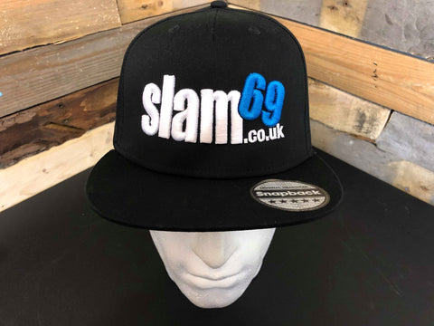 Slam69 5 Panel Snapback Flat Peak Cap