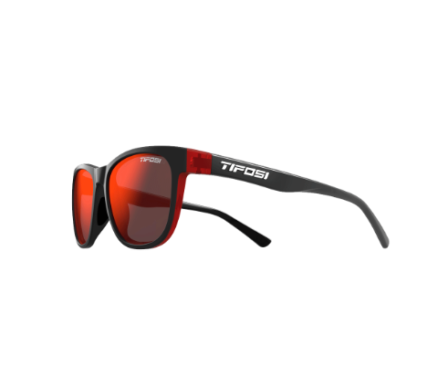 TIFOSI SWANK SINGLE LENS EYEWEAR - CRIMSON/ONYX/SMOKE RED LENS 2019