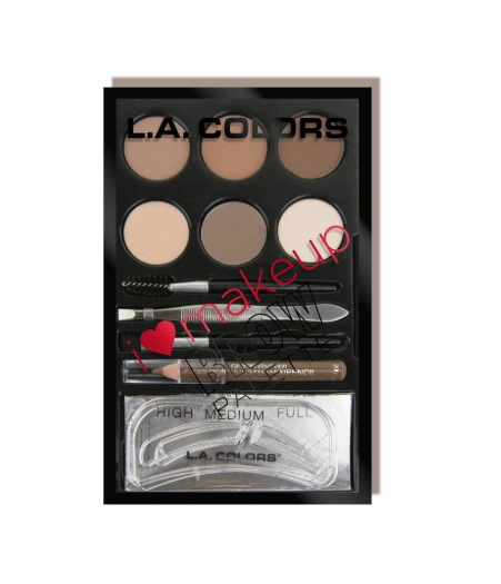L.A. Colors Brow Palette (Light-Medium)