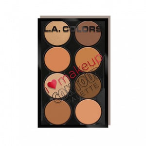 L.A. Colors Contour Palette (Medium-Deep)