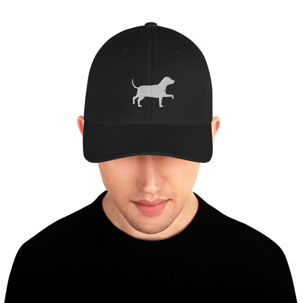 White Dog Structured Baseball Hat