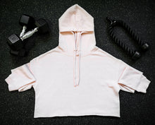 Load image into Gallery viewer, Blush Crop Hoodie