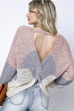 Load image into Gallery viewer, Cutout Back Chevron Sweater