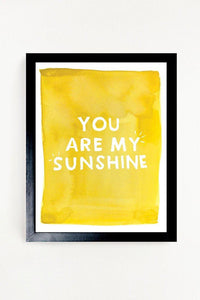 11x14 You Are My Sunshine Art Print - Little Red Barn Door