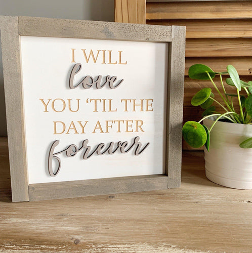 3D Laser Cut Forever Sign - Little Red Barn Door