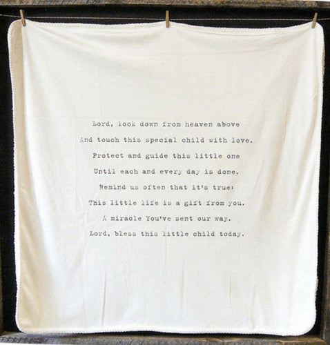 Baby Blanket - Lord Look Down - Little Red Barn Door
