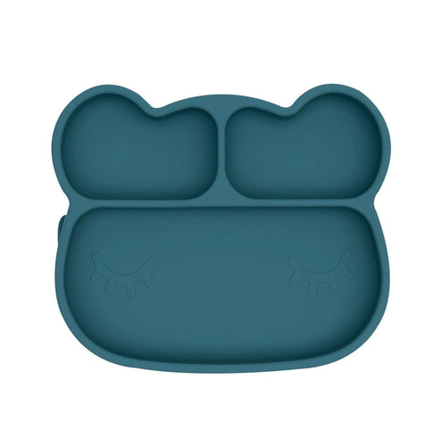 Bear Stickie Plate - Blue Dusk - Little Red Barn Door