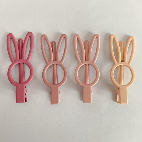 Bunny Rabbit Hair Clips - Little Red Barn Door