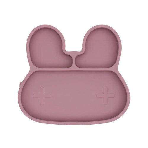 Bunny Stickie Plate - Dusty Rose - Little Red Barn Door