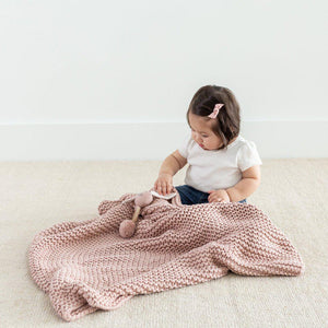 Chunky Knit Baby Blanket - Little Red Barn Door