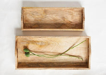 Load image into Gallery viewer, Rectangle Mango Wood Tray (2 sizes)