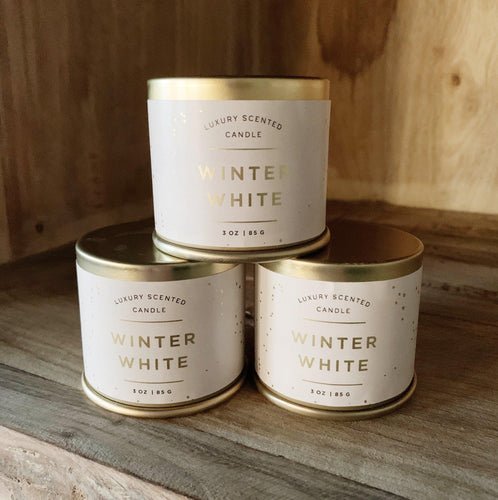 Demi Tin Candle - Winter White - Little Red Barn Door
