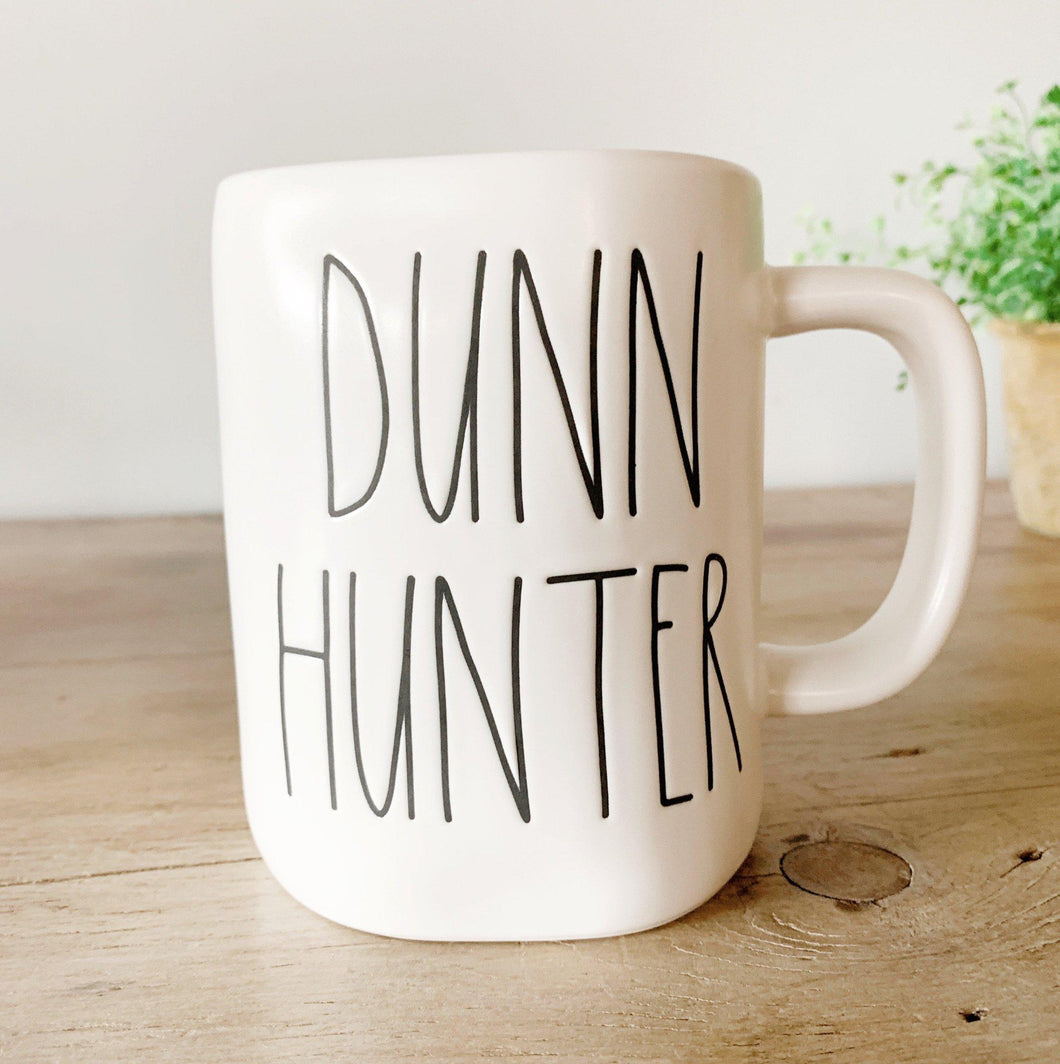 DUNN HUNTER Mug - Rae Dunn - Little Red Barn Door