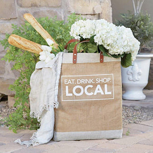 Eat. Drink. Shop. Local - Market Tote - Little Red Barn Door