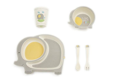 Elly the Elephant Dinner Set - 5 Piece - Little Red Barn Door