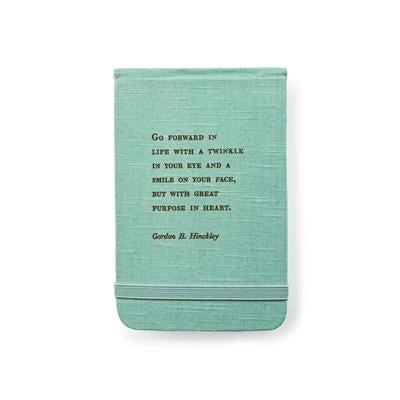 Fabric Notebook - Gordon B. Hinckley - Little Red Barn Door