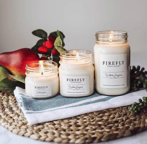 Firefly Candle - White Sangria - Little Red Barn Door