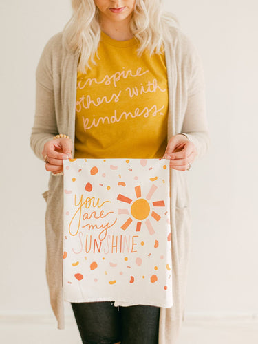 Flour Sack Towel - You are my Sunshine - Little Red Barn Door