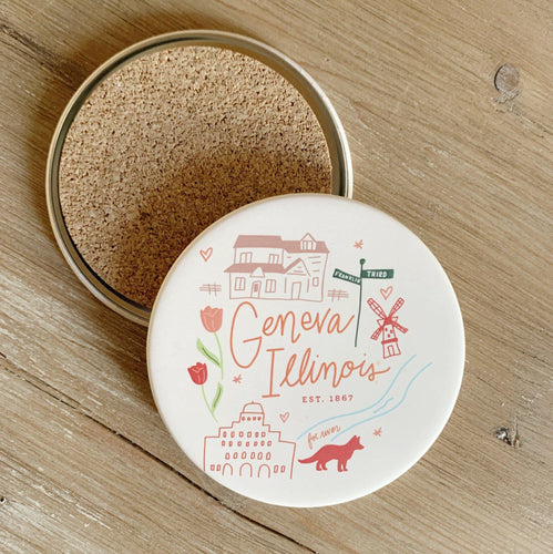 Geneva Coasters - Set Of 2 - Little Red Barn Door