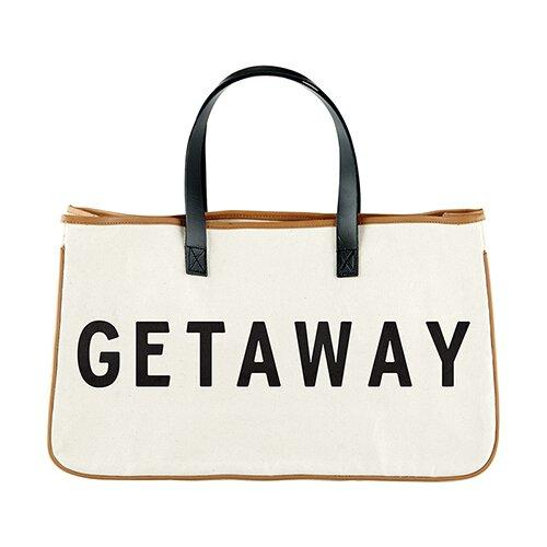 GETAWAY - Canvas Tote - Little Red Barn Door