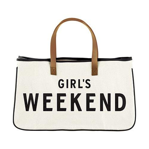 GIRL'S WEEKEND - Canvas Tote - Little Red Barn Door