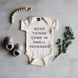 Good Things Come in Small Packages - Baby Bodysuit - Little Red Barn Door