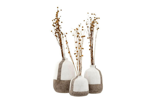 Grey and White Terra-cotta Vases - Little Red Barn Door